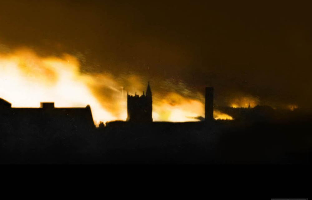 Norwich in flames