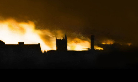Norwich in flames