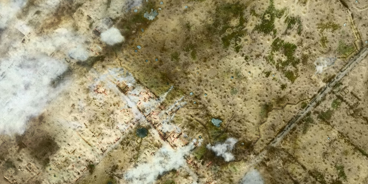 WW1 Aerial photos in colour: Messines