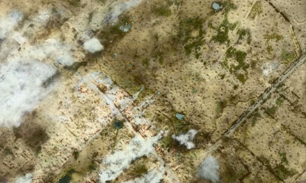 WW1 Aerial photos in colour: Messines