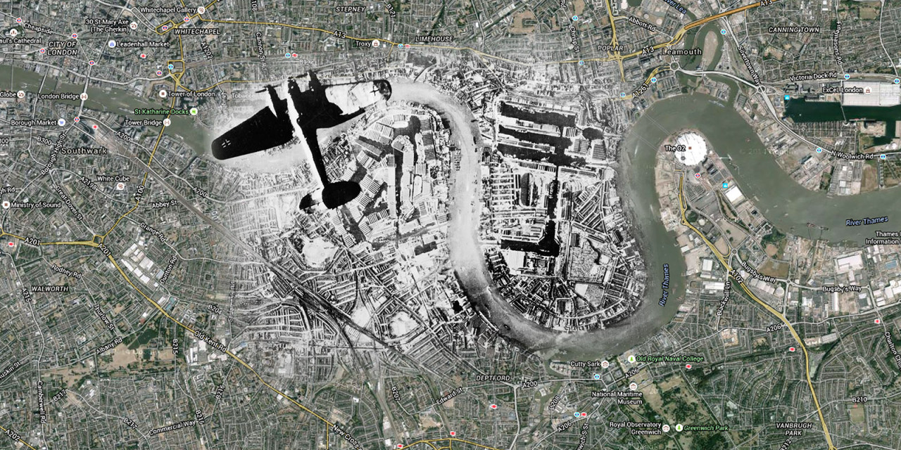 Ghosts: London blitz aerial maps
