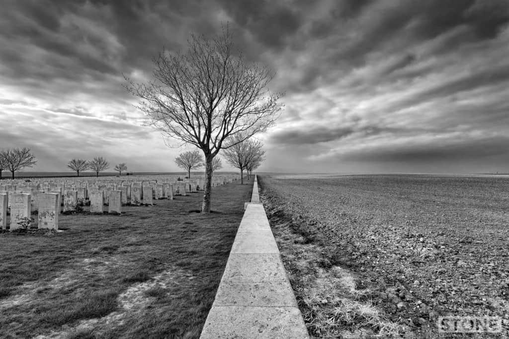Vanishing point - Ovillers © Nick Stone 2014