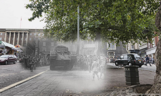 Great War ghost: Norwich tank versus taxi 1918