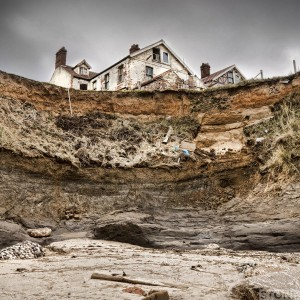 Happisburgh cafe and houses 2012