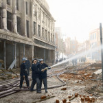 Blitz in Colour: Curls Store 30th April 1942