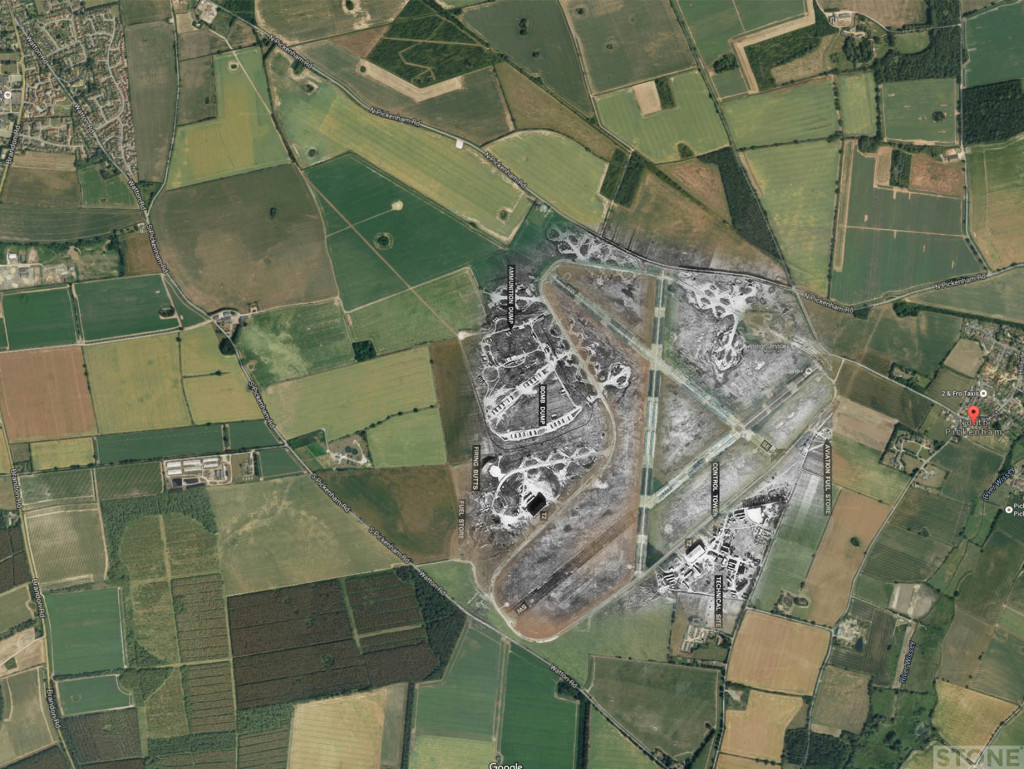 RAF North Pickenham Map Overlay Ghost © Nick Stone