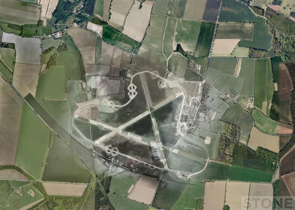 RAF Oulkton Map Overlay Ghost © Nick Stone