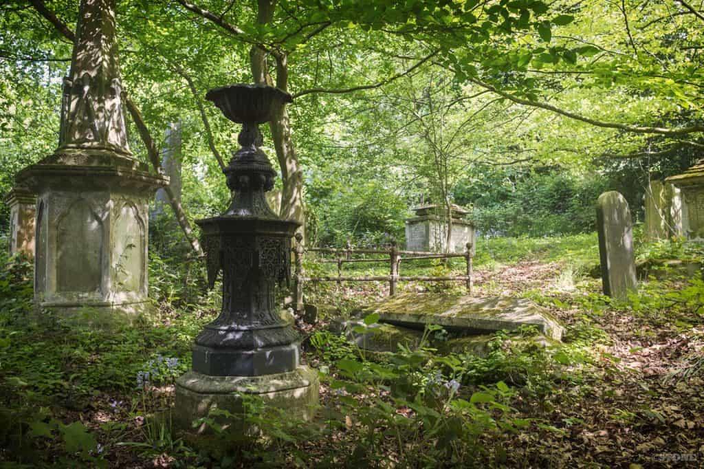 Rosary Cemetery, Norwich, Hines metal memorial.