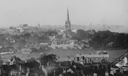 Through Glass: Norwich Skyline 1890s