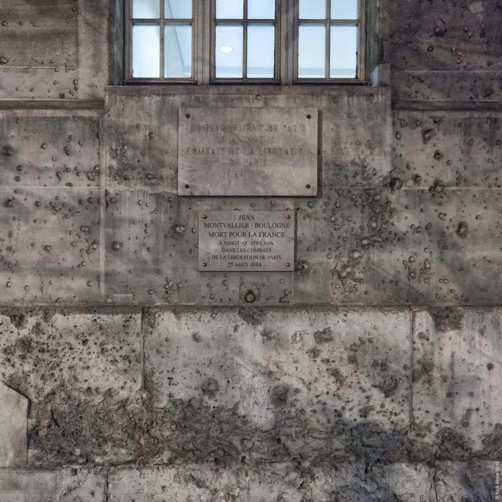 Traces of War - Boulevard Saint-Michel Paris © NS 2013