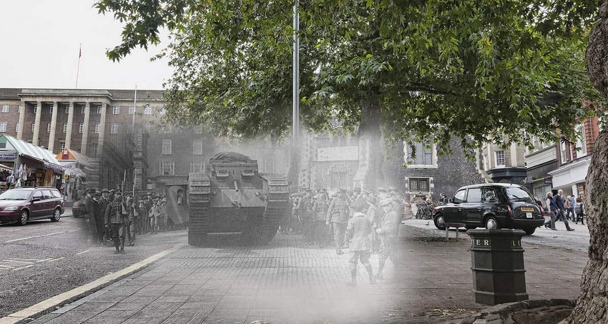 Great War ghost: Norwich tank versus taxi 1918