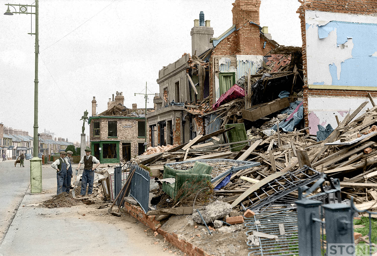 Dereham Road Blitz Ghost colourised © Nick Stone
