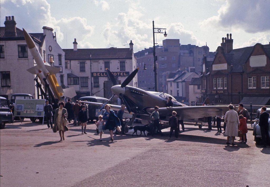 Spitfire in Norwich 1960s